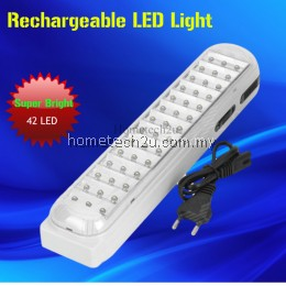 DP LED-714 Rechargeable 2.94W 110lm 6000K 42-LED White Light 2-Mode Emergency Light