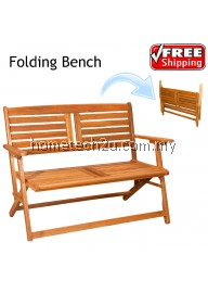 Outdoor Folding Bench Chair Garden Wooden Chair
