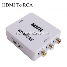 Mini HD Video Converter Box HDMI to RCA AV/CVSB L/R Video HDMI TO AV Adapter