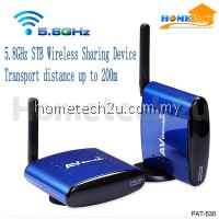 Original Pakite 5.8G Wireless 200m AV Transmitter and Receiver with IR Remote Extenders PAT-530