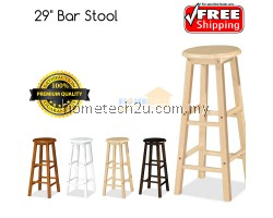 "x 2 Units UHome 29"" inch Wooden Pub Bar Counter Stool Chair"