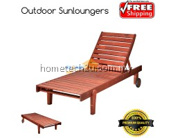 Pisa Wooden Hotel Outdoor Sun loungers With Adjusted Back