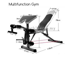All In One Workout Station Multifunction Gym Fitness Equipment Sit Up Dumbbell FID Bicep Leg Curl Bench Chair