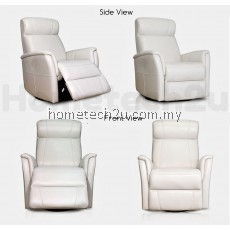UHome Half Leather Single Seater Multifunctional Recliner Sofa Chair