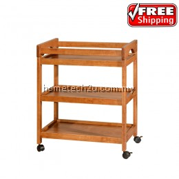 Hotel Room Drink Car Wood Drink Trolley Wooden Bar Wine Trolley Wheel