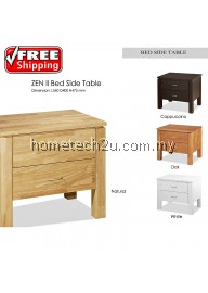 Zen II Bed Room Bed Side Table With Two Drawer