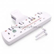 Eurosonic T-Way Adaptor Adaport with Neon Light and Surge Protector - 4 Gang