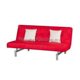 Victoria 3 Seaters Fabric Sofa Bed Convertible (Red)