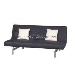Victoria 3 Seaters Fabric Sofa Bed Convertible (Aloba Black)