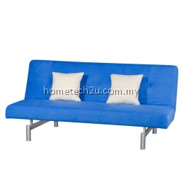 Victoria 3 Seaters Fabric Sofa Bed Convertible (Aloba Big Blue)
