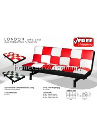 3 Seaters London Chess Design PU Sofa Bed Convertible