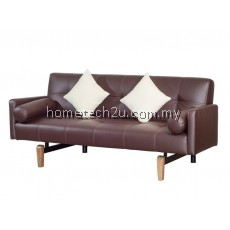 Bosnia PU Three Saet Arm Rest Sofa Bed With 2 Pillow And Bolster (PU BROWN)