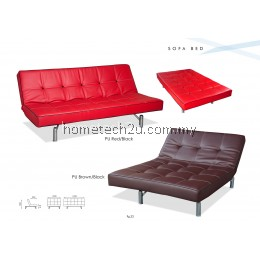 Paris Modern 3 Seat PU Sofa Bed - Adjustable backrest angle