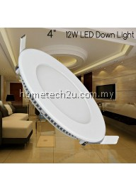 "Round 4"" 12W LED Panel Downlight Ceiling Light (Daylight)"