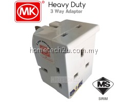 MK 13A Heavy Duty 3 Way Adaptor with Sirim Approved