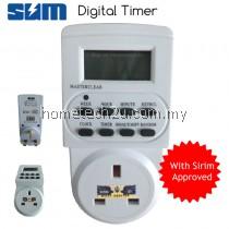 SUM Electronic Digital Timer Socket Plug LCD Display (SIRIM APPROVED)