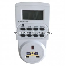 Sum Electronic Programmable Digital Timer Socket Plug with LCD Display (SIRIM APPROVED)