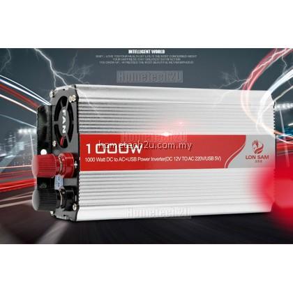 Battery Car Power Inverter 1000 Watt DC 12V to AC 220V +USB 5V