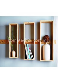 Wooden Wall Decoration Rack Shelf (Set of 3)