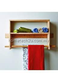 Wooden Wall hanging Tower Rack