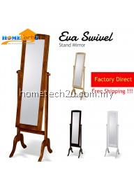 Eva Solid Wood Swivel Stand Mirror