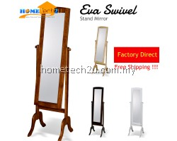 Eva Solid Wood Swivel Stand Mirror