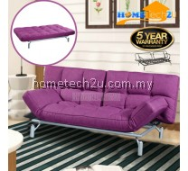 Clo Contemporary 3 Seater Fabric Sofa Bed - Purple
