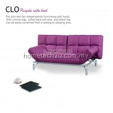Clo Contemporary 3 Seater Fabric Sofa Bed - Purple