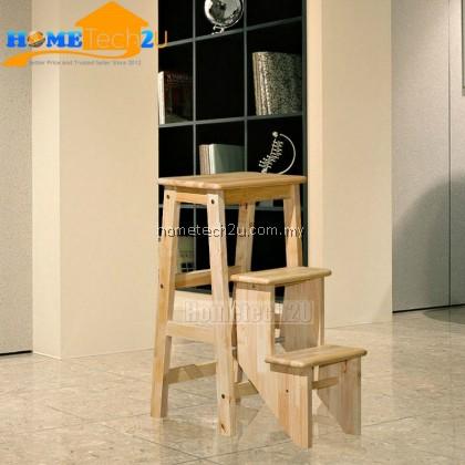 Malaysia Solid Wood Bar Chair Foldable Step Chair Step Stool Ladder Chair Kerusi Tangga Kayu