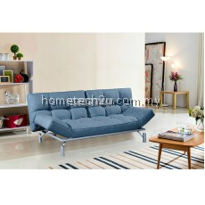 Clo Creative Modern 3 Seater Fabric Sofa Bed - Blue