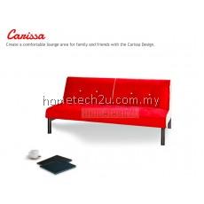 Carissa Stylish Microfiber Sofa Bed-Red
