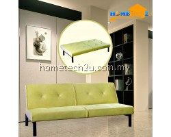 Carissa Stylish Microfiber Sofa Bed-Limeade