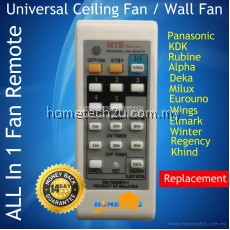 Ceiling Fan Wall Fan Remote For Rubine Deka KDK Pensonic Elmark Wings Eurouno
