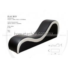 Hotel PU Leather Sex Chair Sofa  Chaise Yoga Chair - PU Black