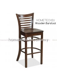 "Hometech2u 29"" Ladder Back Wooden Restaurant Bar Stool"