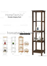 Hometech2u Wooden Display Rack Shelf