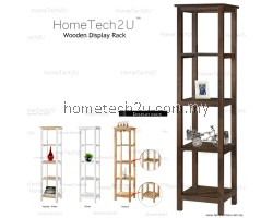 Hometech2u Wooden Display Rack Shelf