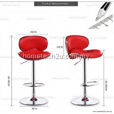 Hometech2u Curvee Modern Adjustable Counter Bar Stool
