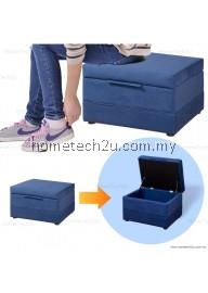 Lavelle Shoe Storage Stool Storage Ottoman Sofa (Micro Fabric)