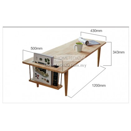 Simple Creative Modern Wooden Rectangle Coffee Table
