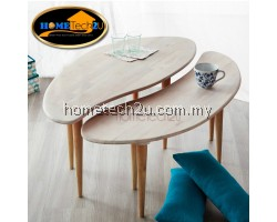 Modern 2 In 1 Bean Connected Coffee Table (Natural)