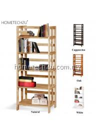 5 Tiers Wooden Bookshelves Bookcase