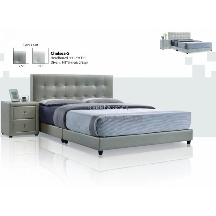 Modern platform bed modern panel bed malaysia for Upholstered divan bed