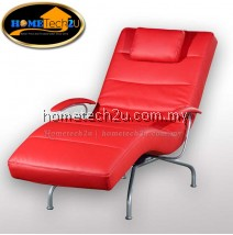 Viena PU Leather Recliner Relax Chair Chaise Lounge (Red)