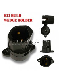 Festoon Pin Type BC B22 Bulb Wedge Holder (black)