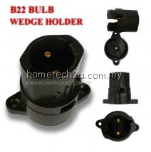 Festoon Pin Type BC B22 Bulb Wedge Holder (black)