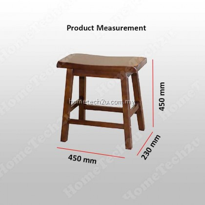 Lavelle 18 inch Rectangle Wooden Bar Stool