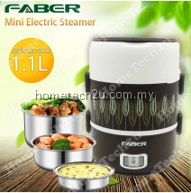 FABER Portable Mini Electric Steamer Lunch Box Portable Food Steamer