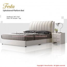 Festa Queen Size Upholstered Platform Bed