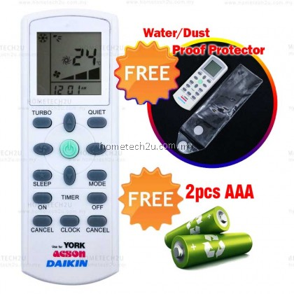 DAIKIN YORK ACSON Air Cond Remote Control Replacement [FREE BATTERY & PROTECTOR]